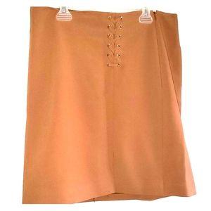 Caramel - •WHBM•   Lace-Up Skirt